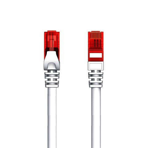 Welly Enjoy it - Cavo di Rete Patch Cat.6 U/UTP Ethernet Gigabit LAN RJ45, Lunghezza 20.0 m, PVC, CU, AWG 26/7, Grigio
