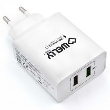 Dual Port Wall Charger with Quick Charge 3.0